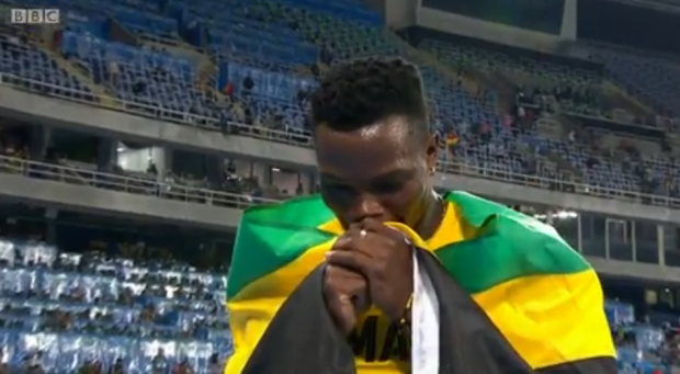 Omar McLeod History Making Victory In Men's 110m Hurdles Finals.25