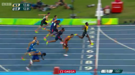 Omar McLeod History Making Victory In Men's 110m Hurdles Finals.56