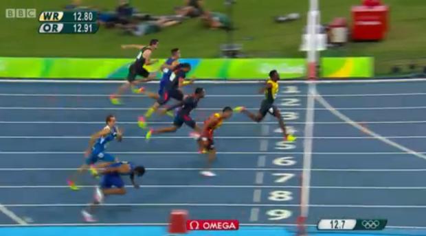 Omar McLeod History Making Victory In Men's 110m Hurdles Finals.56