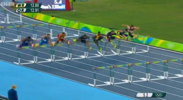 Omar McLeod History Making Victory In Men's 110m Hurdles Finals 7