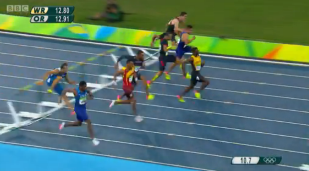 Omar McLeod History Making Victory In Men's 110m Hurdles Finals 8