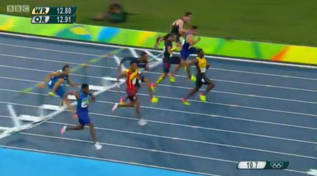 Omar McLeod History Making Victory In Men's 110m Hurdles Finals 8