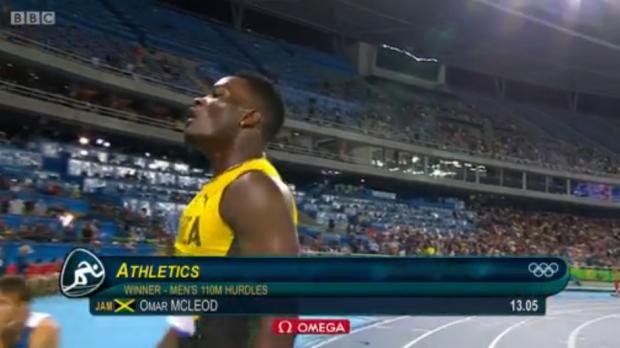 Omar McLeod History Making Victory In Men's 110m Hurdles Finals 9