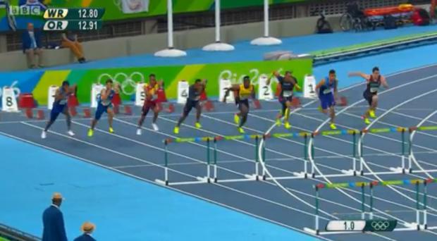 Omar McLeod History Making Victory In Men's 110m Hurdles Finals64