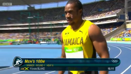 Yohan Blake qualifies for the men's 100m semi finals in Rio
