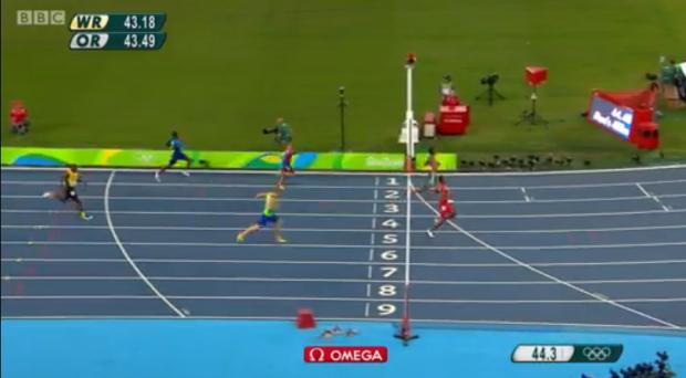 Rusheen McDonald in Men's 400m semi finals