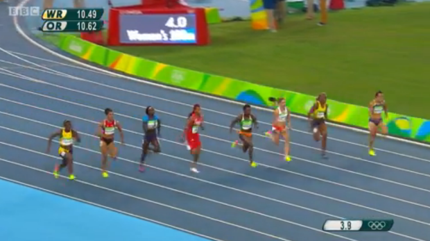 CHRISTANIA WILLIAMS in semi finals 100m