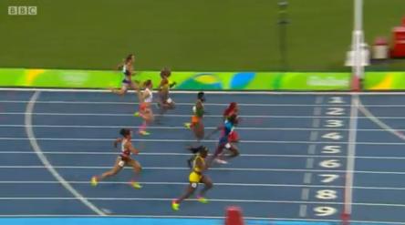 CHRISTANIA WILLIAMS in semi finals 100m