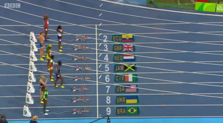 shelly ann fraser pryce in semi finals 100m