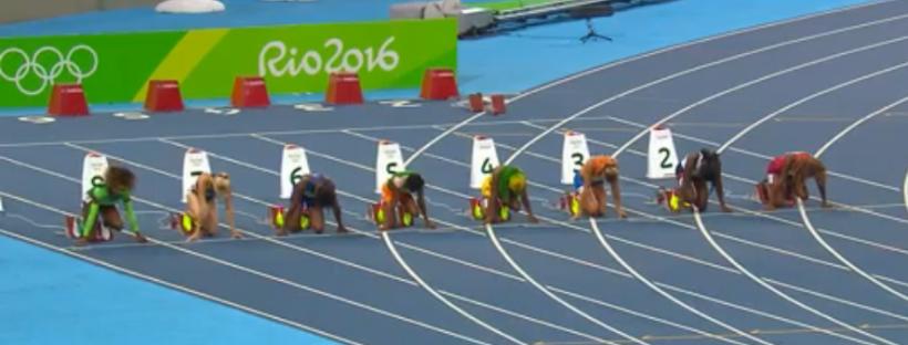 shelly ann fraser pryce in semi finals 100m