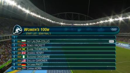 elaine thompson in semi finals 100m