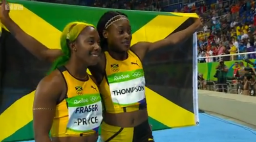 Rio 2016 Olympics: Elaine Thompson Gold and Shelly Ann Fraser Pryce Bronze In The Women's 100m Finals