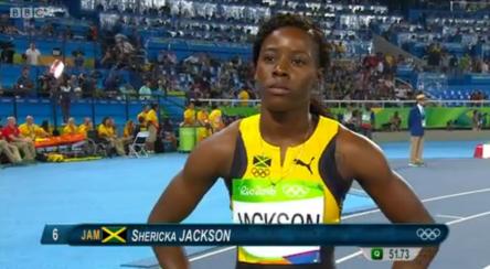 sherika jackson in womens 400m semi finals at rio