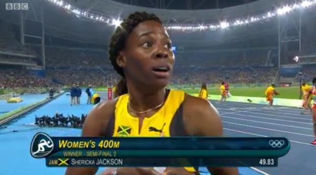 sherika jackson wins her semi final at rio