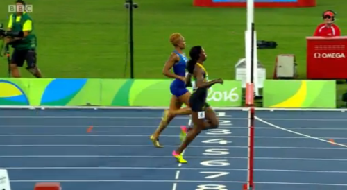 sherika jackson wins her semi final at rio