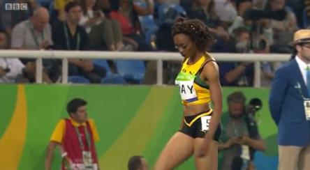 christine day in womens 400m semi finals at rio