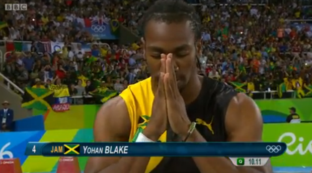 YOHAN BLAKE in the mens 100m semi finals rio