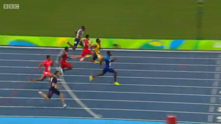 YOHAN BLAKE in the mens 100m semi finals rio