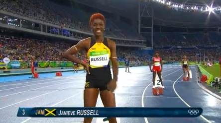 janieve russell at rio olympics