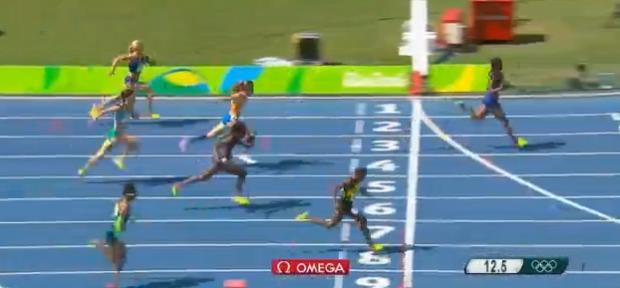 megan simmonds in womens 100m hurdles at rio 2016 olympics