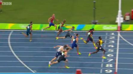 omar mcleod at rio in 110m semi final