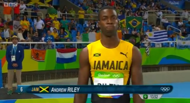 andrew riley at rio 110m hurdles semi finals