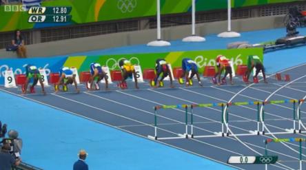 andrew riley at rio 110m hurdles semi finals
