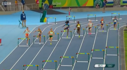 janieve russell To The Women's 400m Hurdles Finals