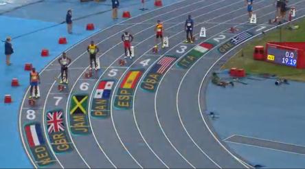 yohan blake at rio olympics 200m finals