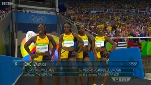 Jamaica 4x100m Relay Women Final