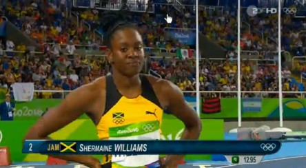 Shermane Williams at the rio olympics