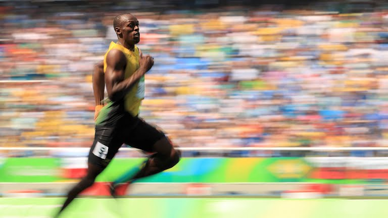 usain bolt in 200m athletics Rio 2016