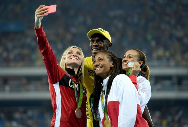 usainbolt taking pictures