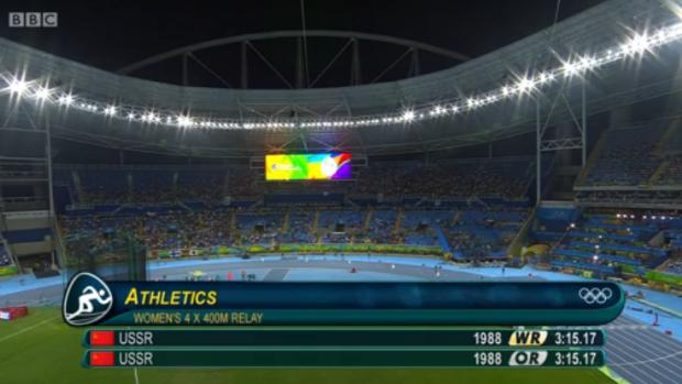 women 4x400m 42.30