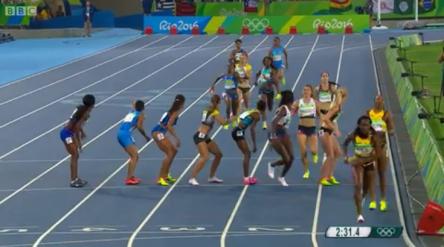 women 4x400m .43