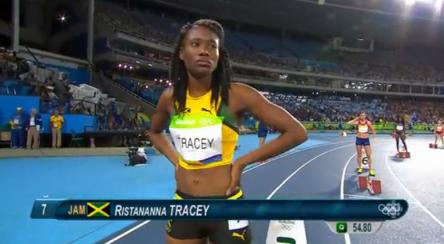 Women's 400m Hurdles Final.13