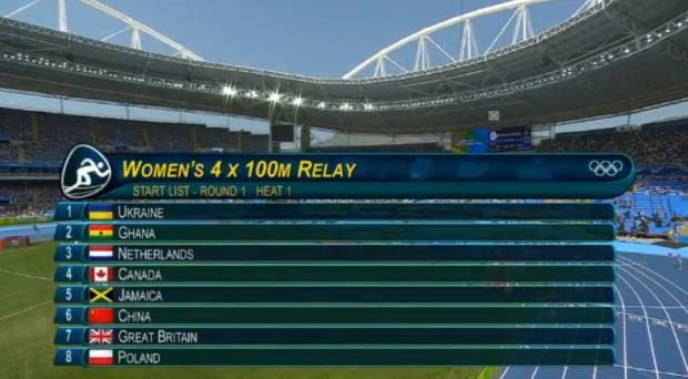 Women's 4x100m Relay Round 1