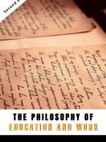 The philosophy of education and work by denise fyffe book cover