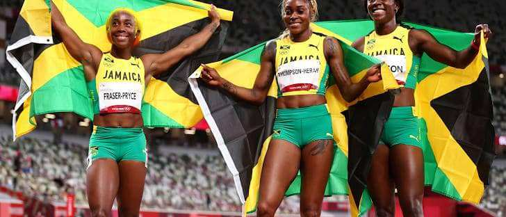 Tokyo Olympics 2021 - Shelly Ann Elaine and Sherika 100 m finals