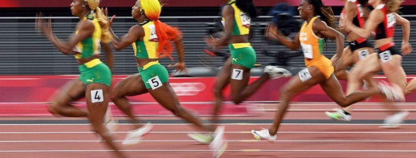 Tokyo Olympics 2021 - Shelly Ann Elaine and Sherika 2
